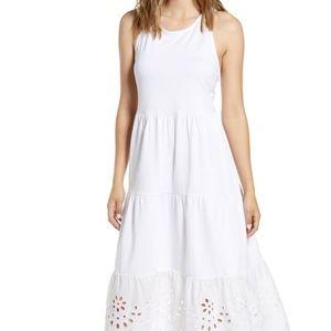 NWT J. Crew Eyelet Midi Cotton Dress XS
